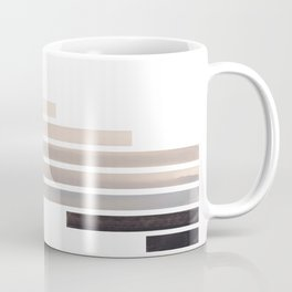 Grey Midcentury Modern Minimalist Staggered Stripes Rectangle Geometric Aztec Pattern Watercolor Art Coffee Mug