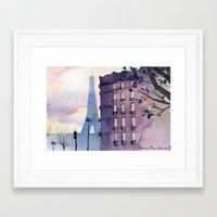 paris Framed Art Prints featuring Paris by Emma Reznikova