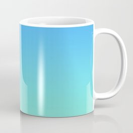 Gradient Blue AI Aqua Teal Turquoise Azure Ombre Pastel Abstract Sea Spring Summer Pattern  Coffee Mug