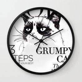 Grumpy the cat Wall Clock