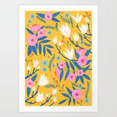 Magnolias and Camellias! Art Print