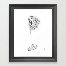 Hear me Roar Framed Art Print