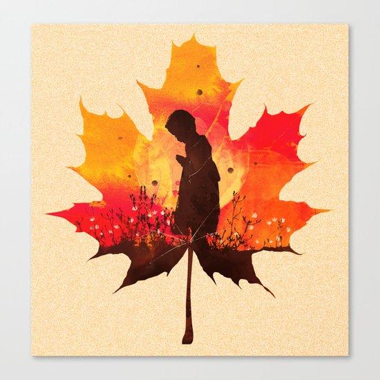 Keep a Little Prayer Tee Design Canvas Print