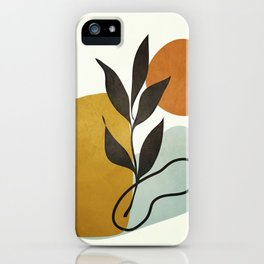 Soft Abstract Small Leaf iPhone Case
