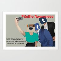 selfie awarness Art Print