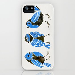 Blue Finches iPhone Case