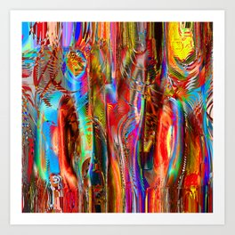 Interference Psychedelia Art Print