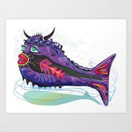 Tropical Bull Fish Art Print