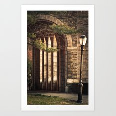 Lamp post Art Print