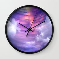 blur Wall Clocks featuring Blur by Stacey Cat