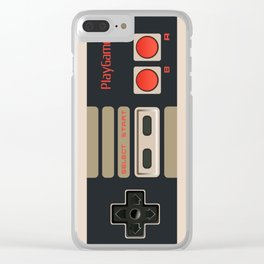 Retro Gamepad Clear iPhone Case