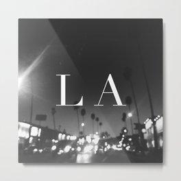LA Metal Print