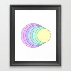 rainbow pastel Framed Art Print
