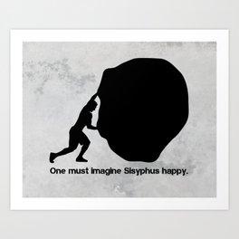 Camus - Sisyphus Art Print