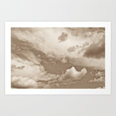 Sepia Summer Skies Art Print