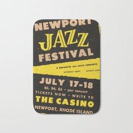 1954 Newport Jazz Festival Billie Holiday Casino Advertisement Poster Bath Mat
