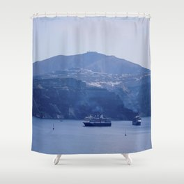 Santorini, Greece 8 Shower Curtain