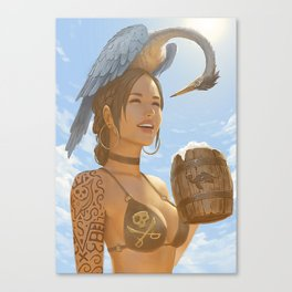 Sunny day with an IPA Canvas Print