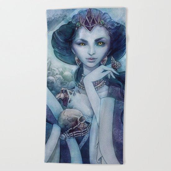 Queen of the dead Beach Towel