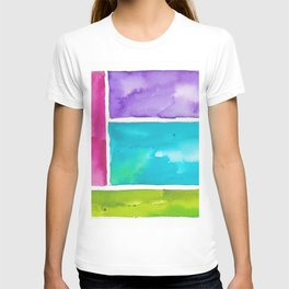 180811 Watercolor Block Swatches 8  Colorful Abstract  Geometrical Art T-shirt