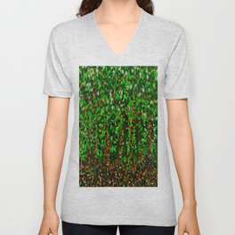 Abstract Forest Unisex V-Neck