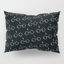 Glasses & Lightning Bolt - Ravenclaw Blue Pillow Sham