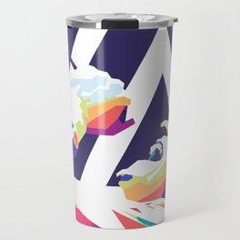 Chester Bennington Pop Art Travel Mug