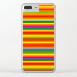Colour Line Stripes 549 Clear iPhone Case