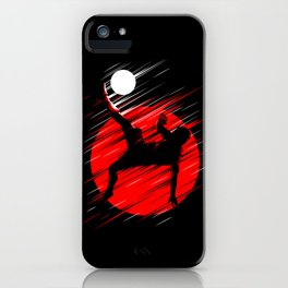 Soccer Red Lines iPhone Case