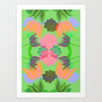 oasis Art Prints featuring Oasis by Ingrid Castile