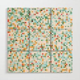 handmade coloured squares Wood Wall Art