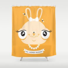 Ms. Honey Bunny Shower Curtain