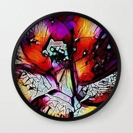 Monet's Flower Wall Clock