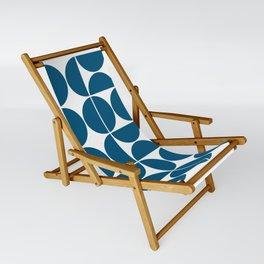 Mid Century Modern Geometric 04 Blue Sling Chair