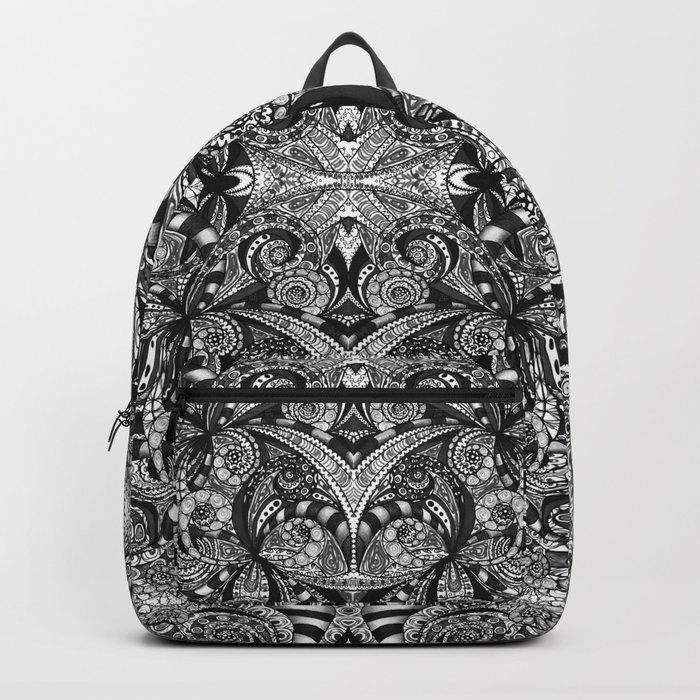 Drawing Floral Zentangle G6B Backpack