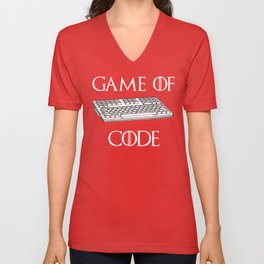 Game Of Code Funny Computer Programmer Shirt Unisex V-Neck