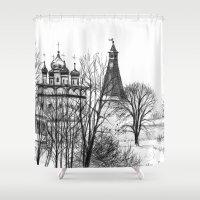 Iossifo-Volotsky Monastery SK02P Shower Curtain