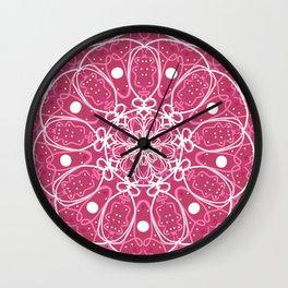 Mandala Pink Spirit Wall Clock
