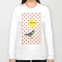hello Long Sleeve T-shirts featuring Hello by Sreetama Ray