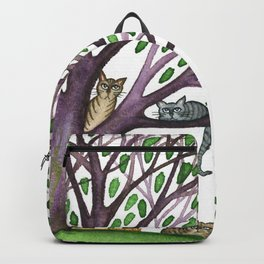 Laurel Whimsical Cats in Tree with Dog Backpack