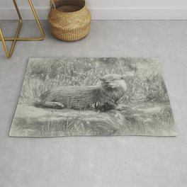 Asian small-clawed otter Rug