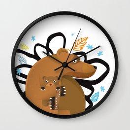 small and big bear Wall Clock