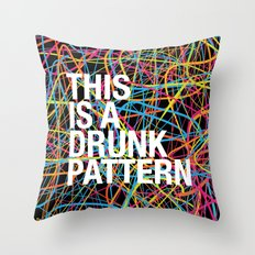 This is a Drunk Pattern Throw Pillow