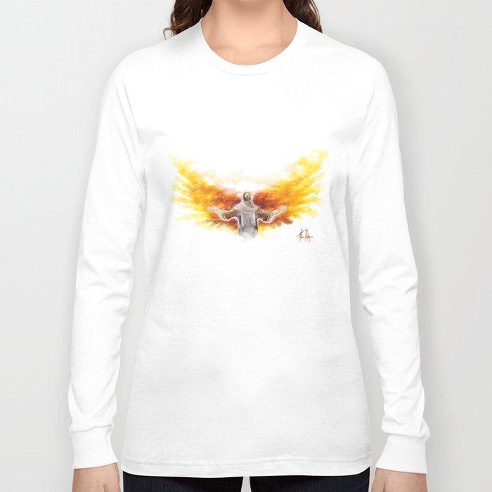 On Wings Like Eagles (Isaiah 40:31) Long Sleeve T-shirt