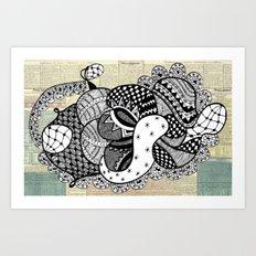 Kiss untimely Art Print