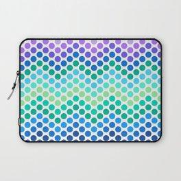 Dot Chevron: Blue Purple Laptop Sleeve