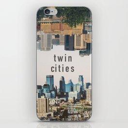 Twin Cities Minneapolis and Saint Paul Minnesota Skylines iPhone Skin