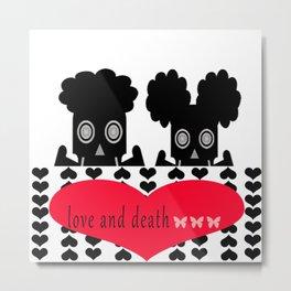 bbnyc: love and death Metal Print