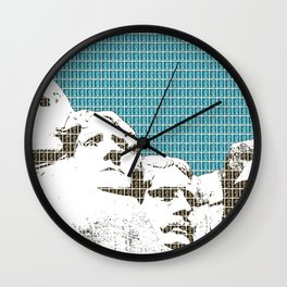 Mount Rushmore - Dark Blue Wall Clock