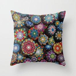 Mandala Stones Throw Pillow